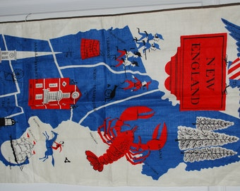 New England Vintage Kitchen Towel-Designed by Tammis Keefe