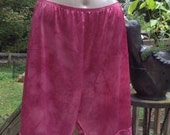 60s VANITY FAIR KNICKERS Bloomers tap Pants Wine rose Vintage Full Slip Upcycled Hand Dyed Size Large medium