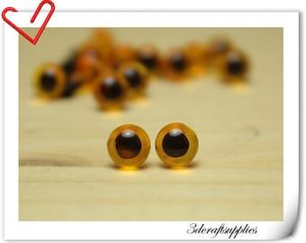 6 mm Champagne  Safety eye amigurumi eye doll eyes cat eye 28 pieces  EB17