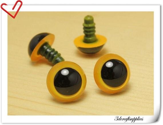 18 mm yellow Safety eye amigurumi eye doll eyes cat eye 12