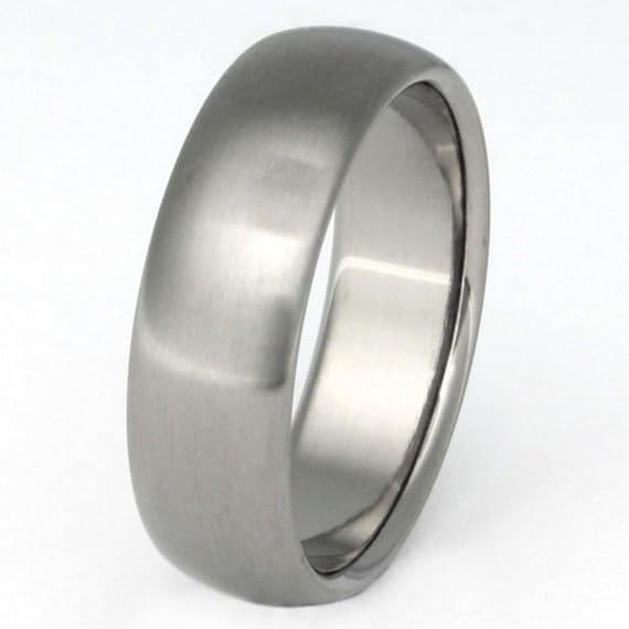 Classic Titanium Wedding Band - Custom Handmade Ring - Man's Wedding Ring - n11