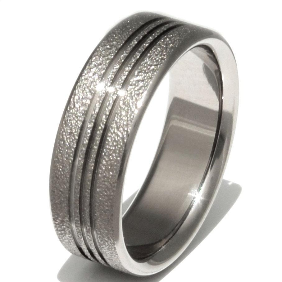 titanium wedding band unique titanium ring frost titanium