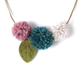 SALE - Kid Friendly - Pom Berry Necklace