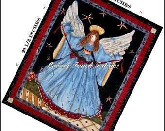"""SSI  """"Angels From Above"""" Chrismas Angel Cotton Fabric Panel 19"""" x 23 1/2"""""""