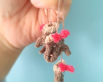 jiajiadoll hand-knitting camel twist bowknot mitten fit momoko and Misaki or blythe