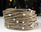 Wikkitz Bracelet in Camel with silver beads