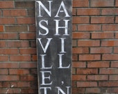 Nashville TN Sign, Rustic wood sign, Tennessee Sign, City and State Signs for your home, Porch Sign