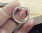 Textured hoop post earring - EAD2015 - etsymetalteam