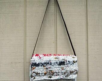 Multicolor Recycled Plastic Bag Purse - Plarn