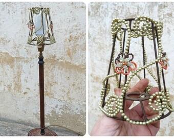 Handmade in France lampshade beadwork / Bohemian