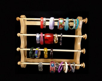 Large Wall Mounted Hanging Bracelet Holder Storage Display Oak