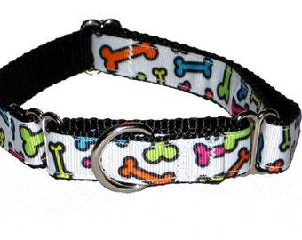 """3/4"""" Dog Bone Dog Collar"""