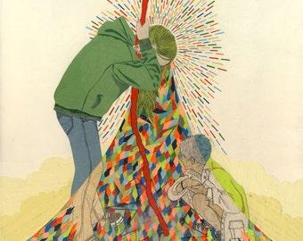 Chrononauts - Giclee Art Print - 14x14
