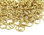 250 Raw Brass Jump Rings  5x0.70 Mm ( A0322 )
