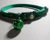 Emerald Green Glitter Cat or Kitten Safety Collar