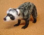 Rascal the Raccoon Needle Felt, Licorice