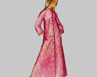 1970 Misses Robe Sewing Pattern Simplicity 9074 Duster, Negligee, Housecoat MuuMuu, Caftan Long or three quarter sleeves Size 16 bust 38