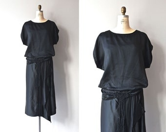 Metropolitan Aire dress | 1920s silk dress • vintage black 20s dress