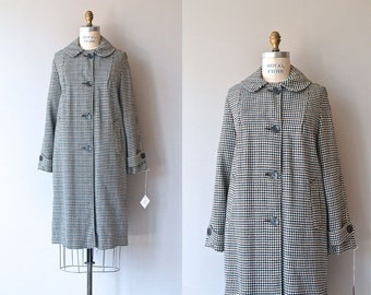 Brownstone Check coat | 1950s wool coat • vintage 50s coat