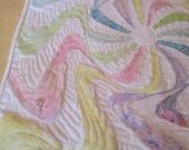 Batik Wall Hanging Color Swirl Wall Hanging Batik Art Quilt