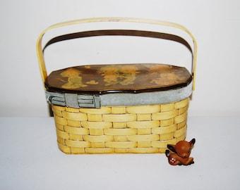 SALE.......Vintage Betsy Clark Basket Purse 1970's
