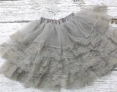 Pettikskirt - Baby pettiskirt -girls lace skirt - Flower girl - Lace petti skirt - newborn tutu -lace tutu -lace  - lace pettiskirt