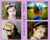 ADULT + CHILDRENS Bandana Headband Pattern Fabric Headband Tutorial DIY Sewing Pattern Head Wrap Headcovering Hair Scarf Hair Wrap Women