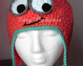 PDF CROCHET PATTERN Googly Eye Hat sizes 1 month to adult Digital