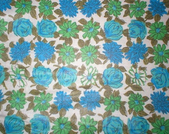 7 yards 38 wide 50s floral print dressmaking fabric
