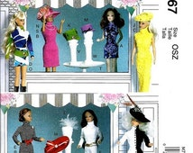 BARBIE CLOTHES PATTERN - Fits 11.5 Inch Dolls / Dressses -Hats - necklaces - Accessories