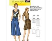 Capri Pants Sewing Pattern - Womens Shorts Pattern - Butterick 5504 - B5504 - Uncut, Factory Folded