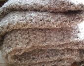 Heavy Crocheted Blanket or Throw