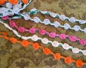 Multi Colored Rosette Trim