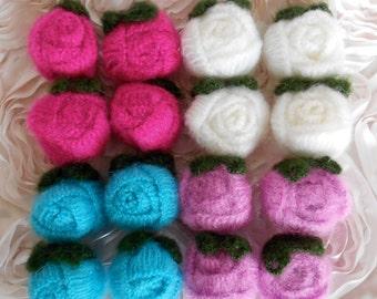 Handmade Soft Wool Rosebuds