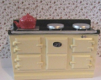 Miniature  Range, Swedish style stove, ,country stove, dollhouse stove, cooker.  Twelfh scale dollhouse miniature