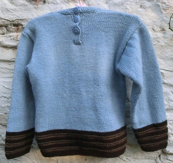 Knitting Pattern With Tractor Motif : Tractor Motif Childrens Knitting Pattern, Childs Sweater, KnittingPattern PDF...