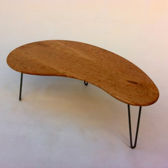 Mid Century Modern Coffee Table Kidney Bean Shaped Atomic: Mid Century Modern Coffee Or Cocktail Table By