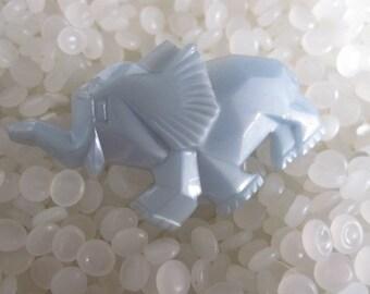 vintage barrette elephant, blue elephant