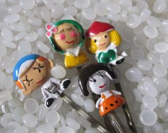 vintage hair pins little people, children