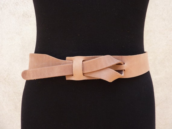 Safari Outback Taupe Leather Belt by Muse  1.5 inch Nickel- Free/vegetable tanned leather