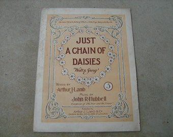 1901 sheet music (   just a chain  of daisies  )