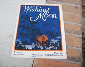 1919 sheet music (  wishing moon  )