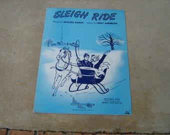 1950 sheet music (  sleigh ride  )