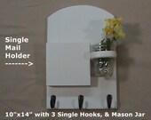 Mail Organizer - Mail Holder - Letter Holder - Key Rack - Key Hooks - Jar Vase - Organizer
