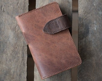 Smartphone Leather Wallet - HIT THE ROAD (Organic Leather)
