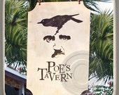 Poe's Tavern, Sullivans Island,Charleston, South Carolina Landmark Marble Stone Coaster. Mix and Match With My Other Coasters To Make A Set