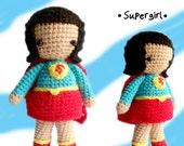 Amigurumi Crochet Pattern - Supergirl Instant download pdf pattern