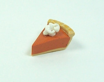 Larger Pumpkin Pie Slice Charm with a Dollop of Whipped Cream