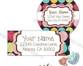 Return Address Labels - Glossy - Polka Dot - Choice of Shapes and Sizes