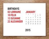PDF Printable Calendar Template - Minima